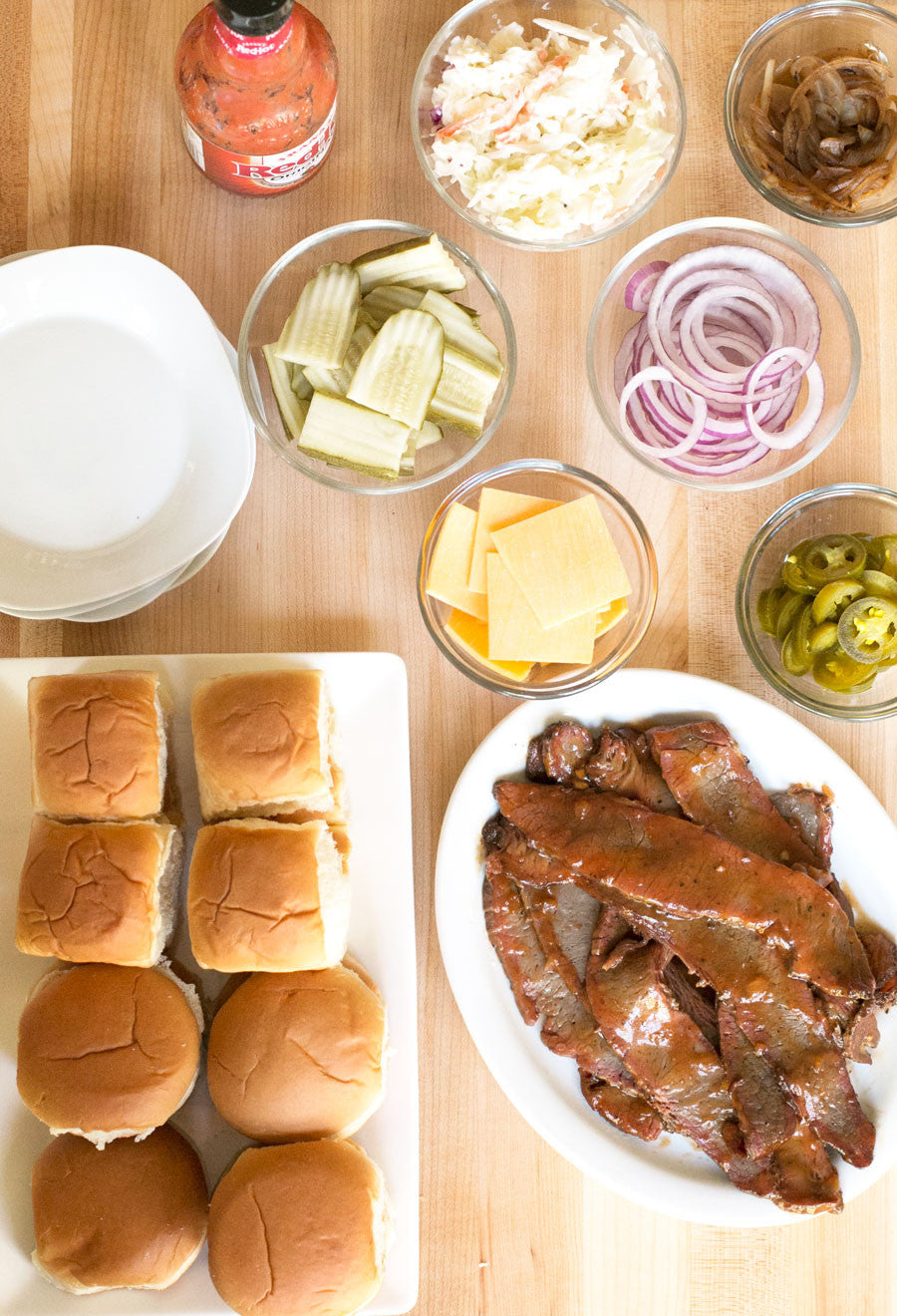 DIY Brisket Slider Bar | Sauce + Style