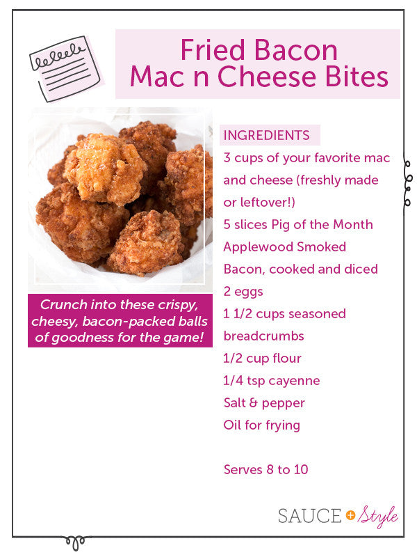 Fried Bacon Mac n Cheese Bites