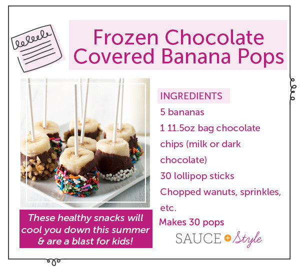 Frozen Chocolate Covered Banana Pops