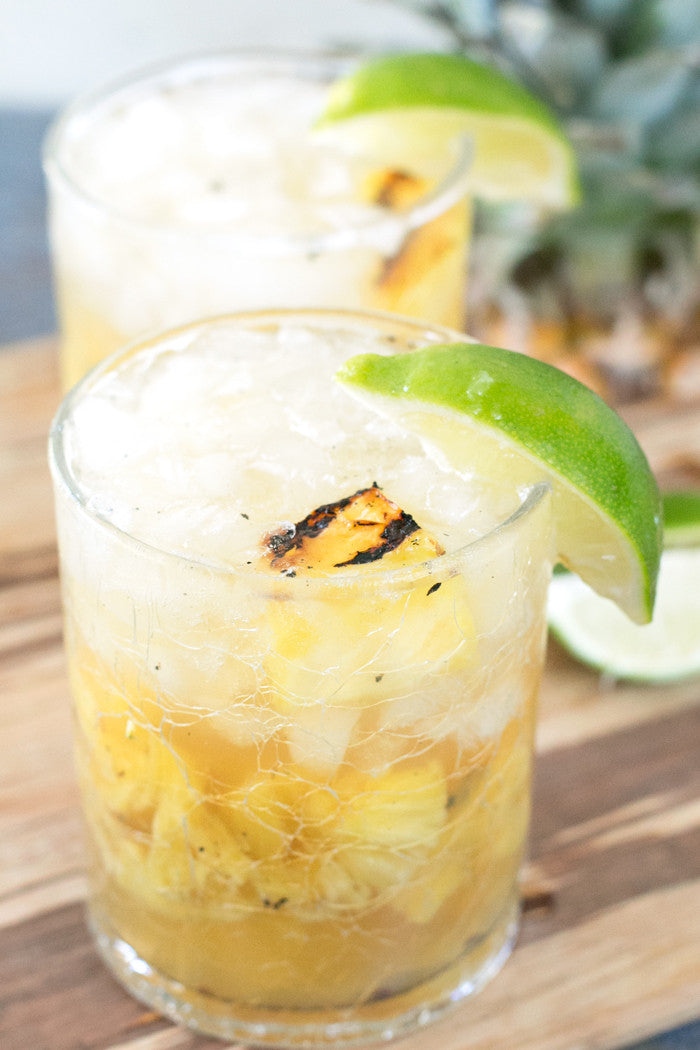 Grilled Pineapple Bourbon Smash | Sauce + Style