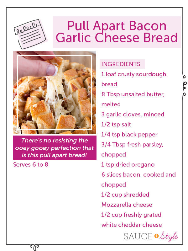 Pull Apart Bacon Garlic Cheese Bread