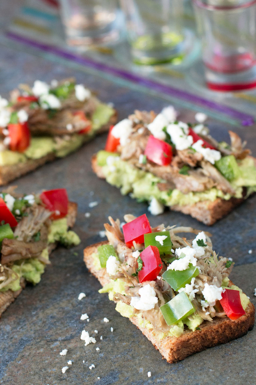 Pulled Pork Veggie Avocado Toasts | Sauce + Style Blog (pigofthhemonth.com)