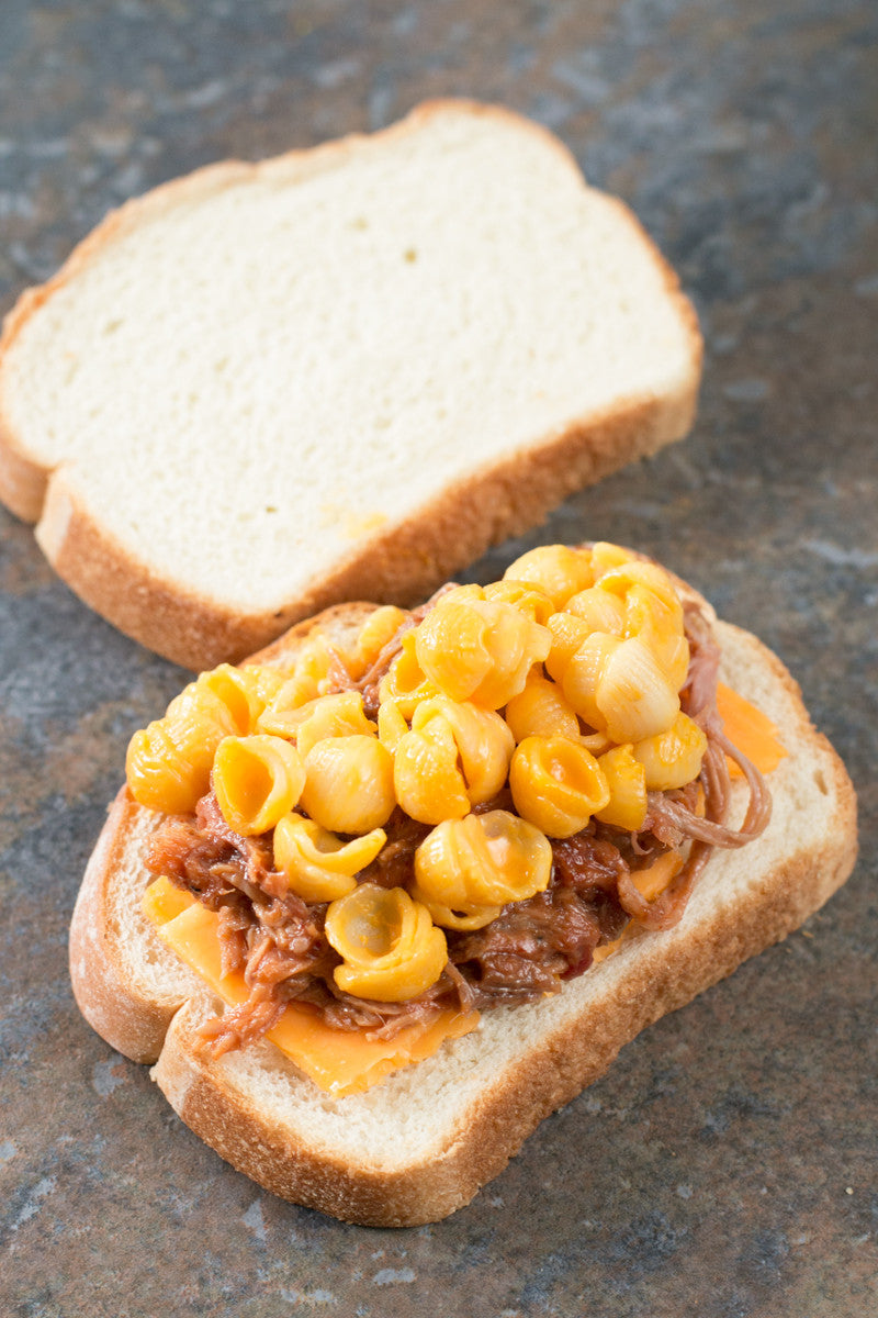 Pulled Pork Mac n Cheese Grilled Cheese | Sauce + Style