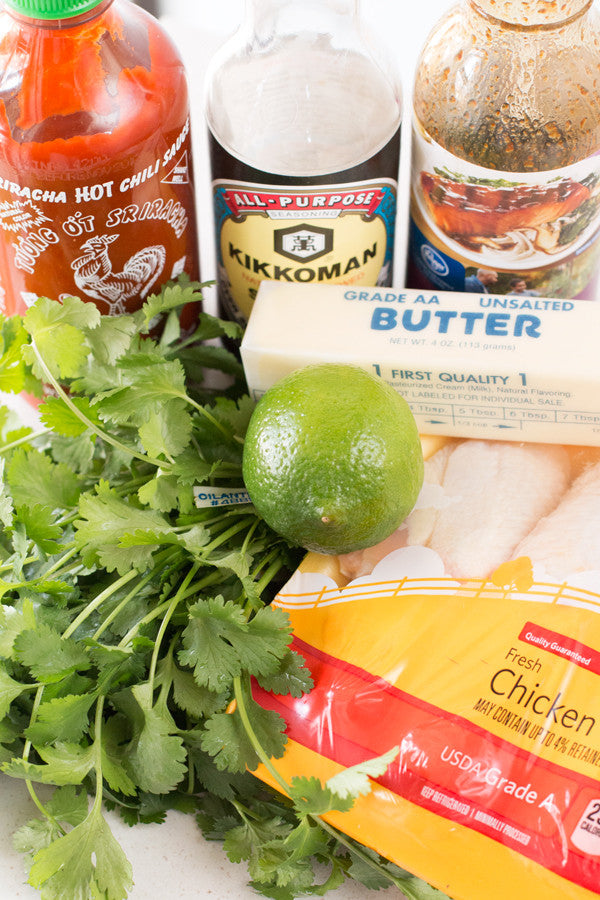 Sriracha-Lime-Wings-Ingredients