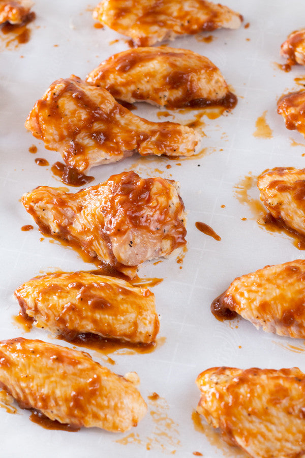 Sriracha Lime Baked Chicken Wings | Sauce + Style