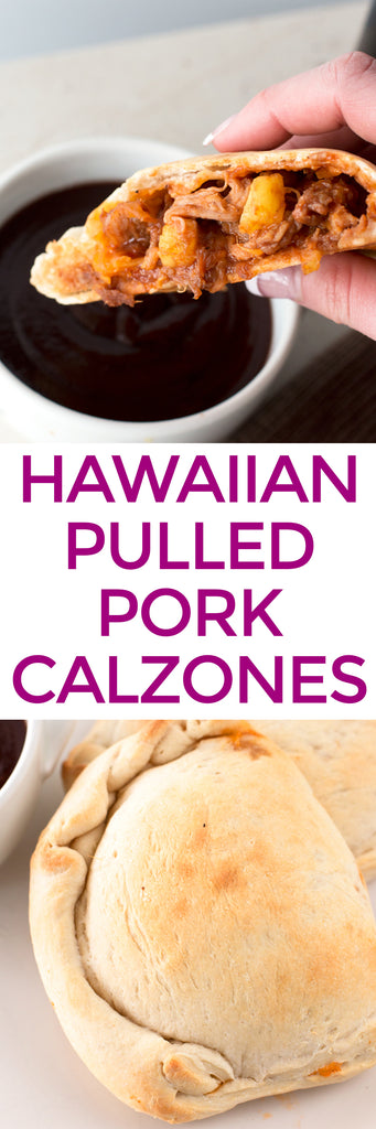 Hawaiian BBQ Pulled Pork Calzones | pigofthemonth.com/blog #bbq #barbecue #dinner