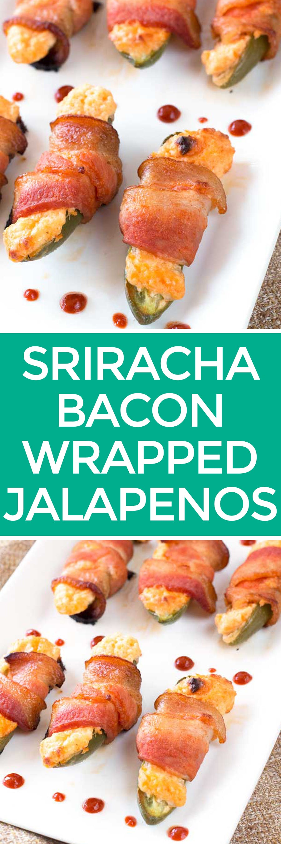 Sriracha Bacon Wrapped Jalapeños | pigofthemonth.com #sriracha #bacon #tailgating