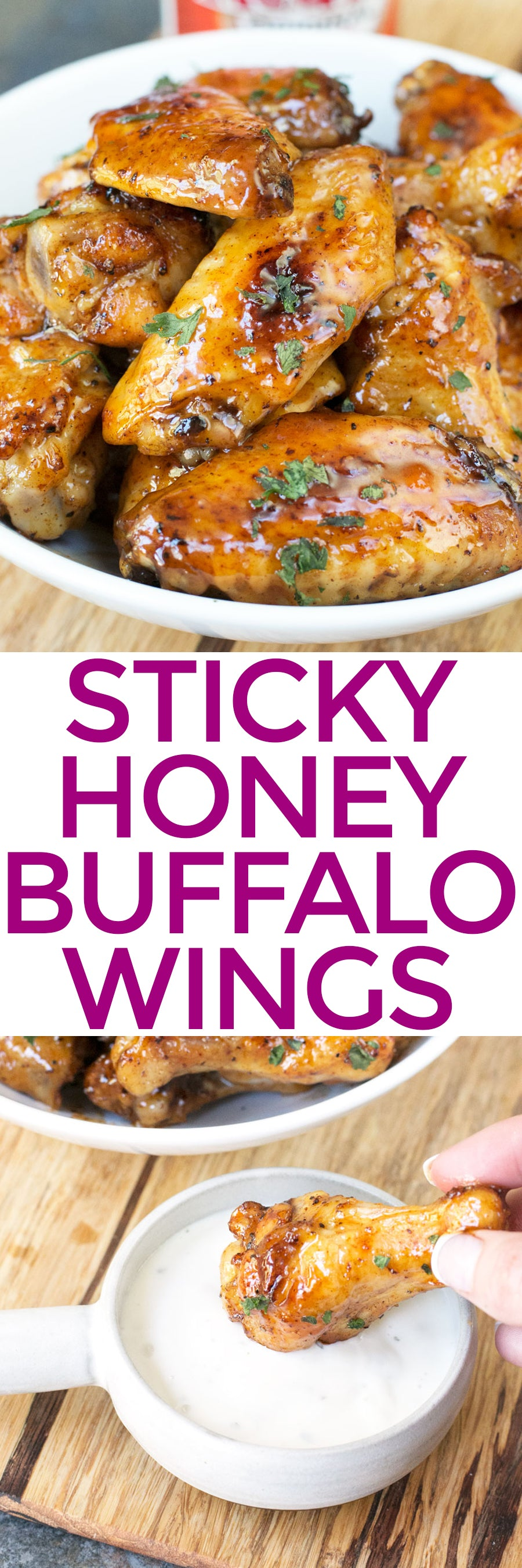 Sticky Honey Buffalo Wings | pigofthemonth.com #tailgating #snacks #homegating