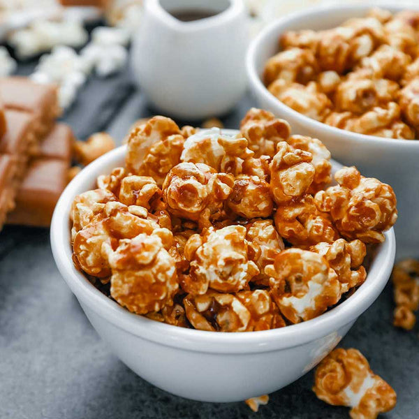 Salted Caramel Popcorn with Bacon
