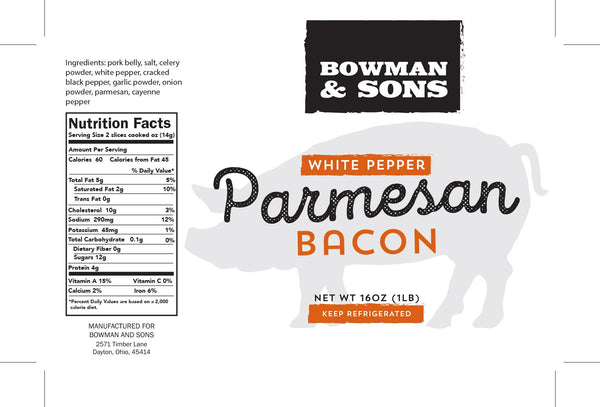 White Pepper Parmesan Bacon