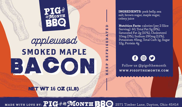 Applewood smoked maple bacon shipped nationwide