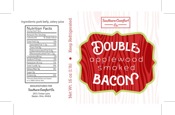 Plain double smoked applewood bacon gluten free
