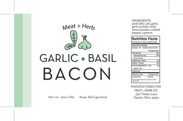 Garlic Basil Bacon