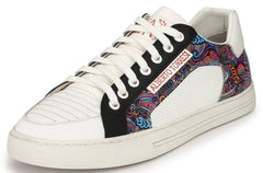 ALBERTO TORRESI MEN VAN WHITE & BLUE SNEAKERS