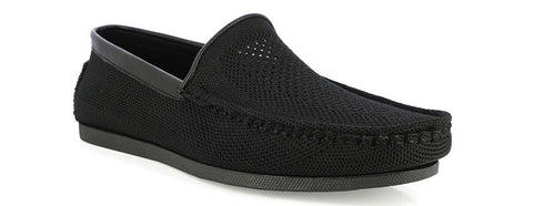 BLACK KNITTED LOAFERS