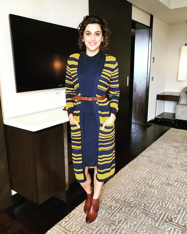 "Bespoke Luxury Shoe Brand on Instagram_ ""#CelebStyle Taapsee Pannu looks gorgeously Stylish in Alberto Torresi Boots during Promotion of her upcoming movie _JUDWAA"