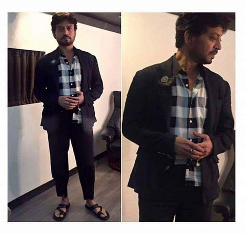 "Bespoke Luxury Shoe Brand on Instagram_ ""Irrfan Khan looking dashing in Alberto Torresi Sandal....Grab your pair at www.albertotorresi.com #IrrfanKhan #HindiMedium #SS17 #style"