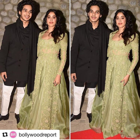 "Bespoke Luxury Shoe Brand on Instagram_ ""#IshaanKhattar in #AlbertoTorresiShoes for the Filmfare Middle East Awards with #JhanviKapoor . Get this fresh look with #AlbertoTorresi"