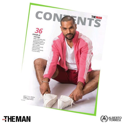 "Bespoke Luxury Shoe Brand on Instagram_ ""#Spotted the man on the front foot, stealing the spotlight in Alberto Torresi all-white sneakers on the covers of The Man Magazine, June"
