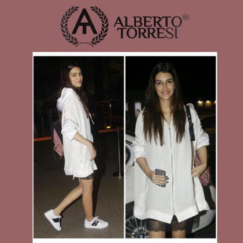 "Bespoke Luxury Shoe Brand on Instagram_ ""The sexy Kriti Sanon rocks our new Alberto Torresi sneakers. We love her style! Pick up a pair of these trendy shoes at our website on"