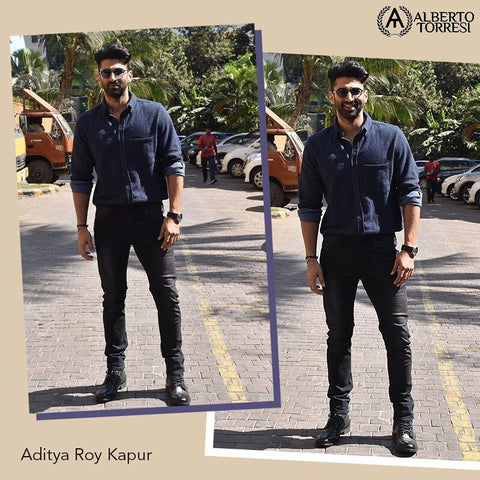 "Bespoke Luxury Shoe Brand on Instagram_ ""@adityaroykapur spotted yet again looking dapper as ever! @malangfilm . albertotorresi #mensfashion #menstyle"