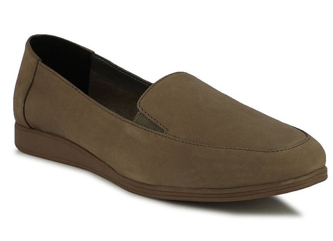 SOOTHE NATURAL LEATHER SLIP-ONS