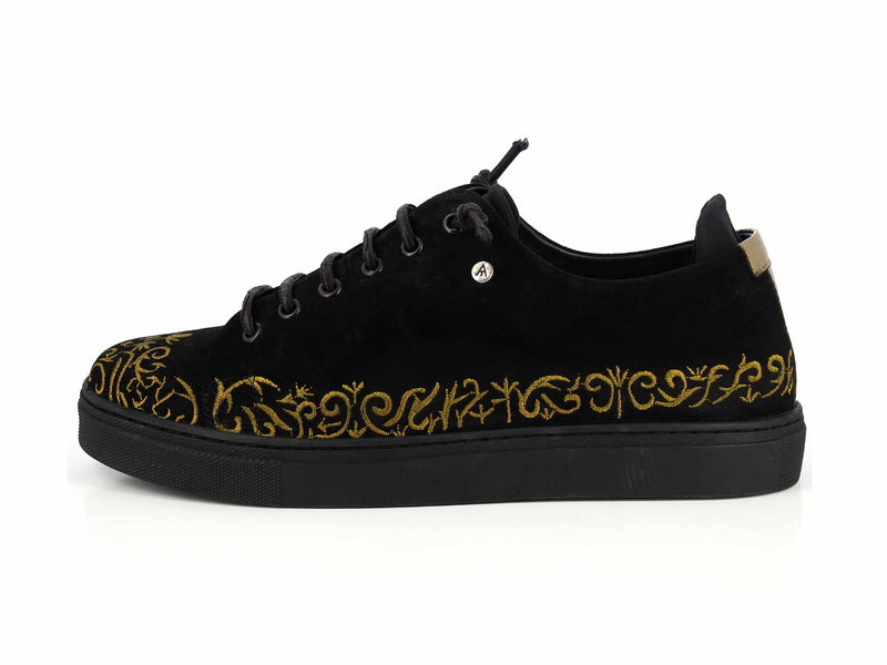 Black Golden Sneakers