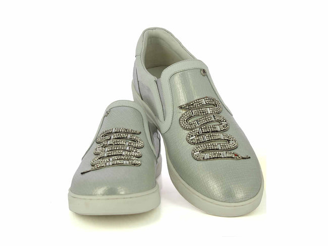 White Silver Party Sneakers