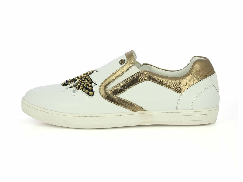 White Golden Party Sneakers