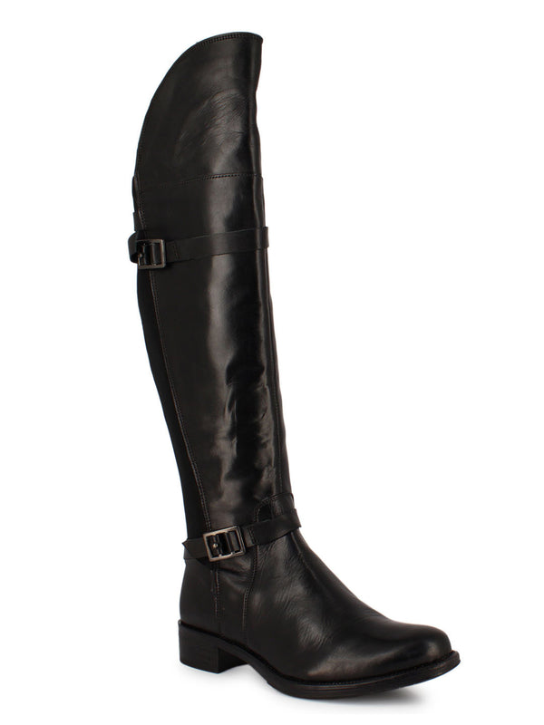Leather Black Jackboots