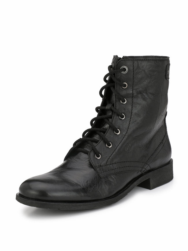 Alberto Torresi Barcus Black Ankle Boots