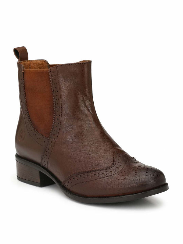 Alberto Torresi Women Navarro Dark Brown Boots