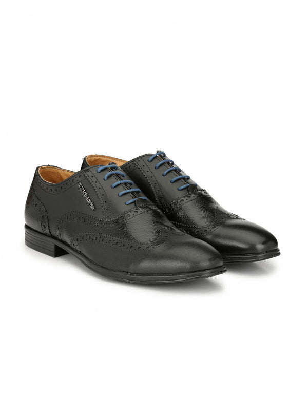 Alberto Torresi Protom Black Formal Shoes