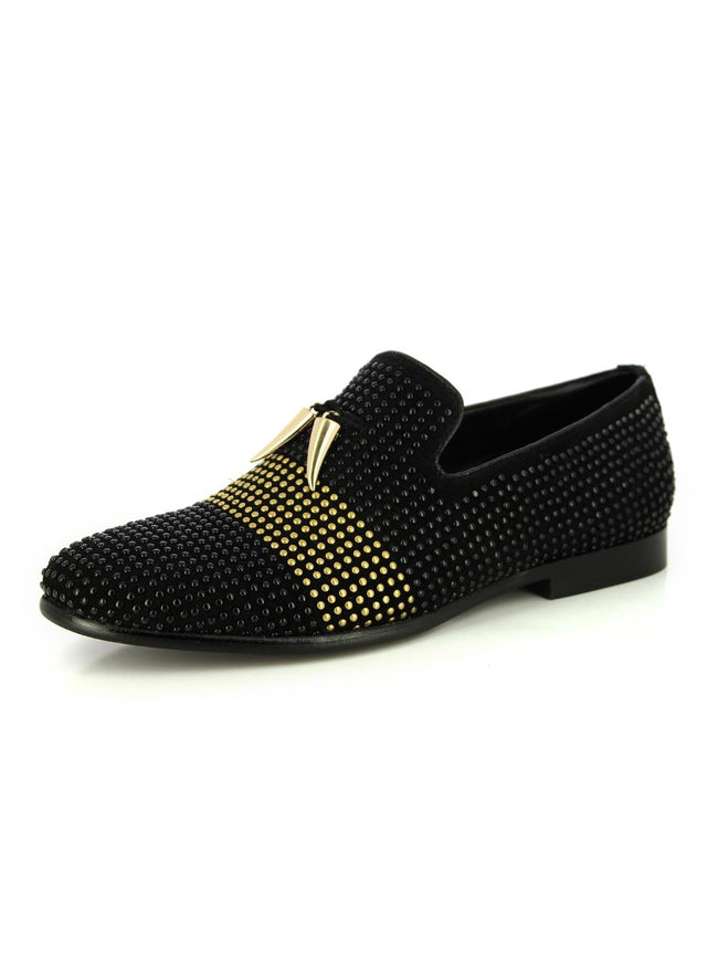 Alberto Torresi YAKIRA BLACK+GOLDEN SHOE
