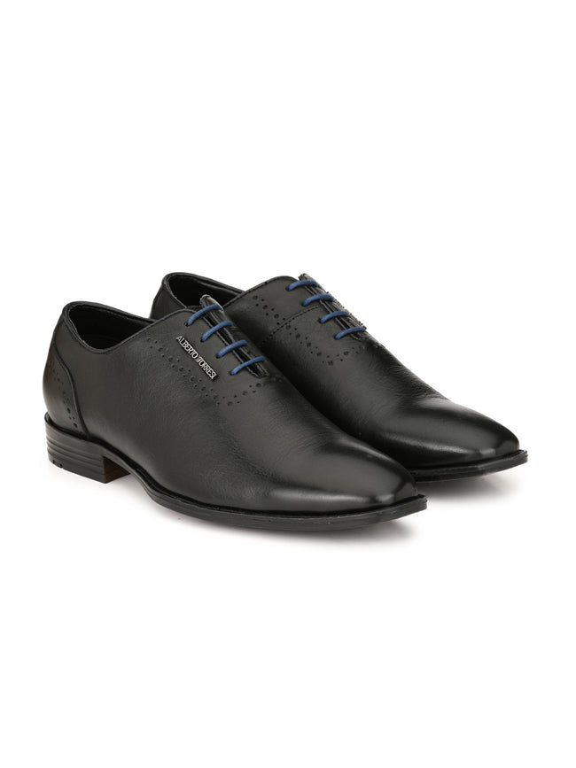 Alberto Torresi Aldo Black+Blue Formal Shoe