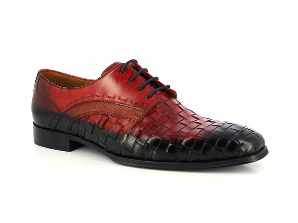 Alberto Torresi Olivernapo Blue & Red Formal Shoe