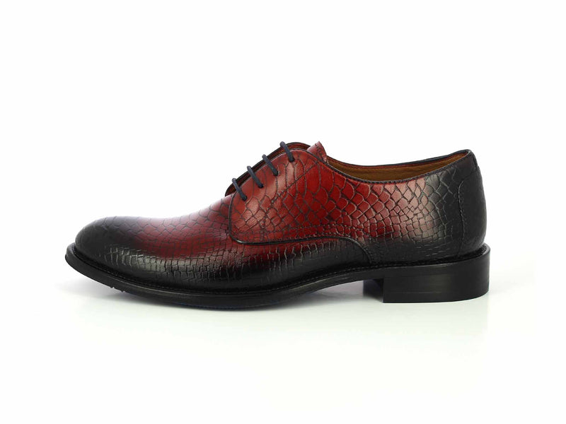 Alberto Torresi Hudson Dk Blue+Red Formal Shoe