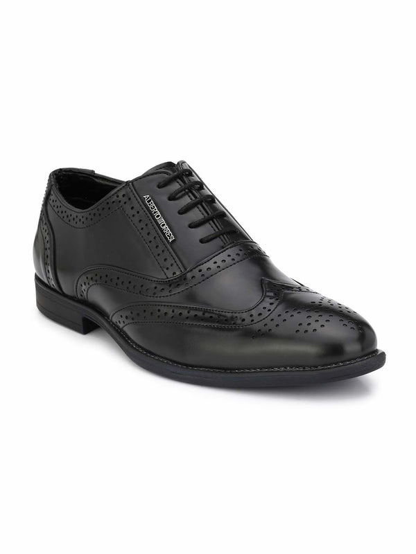 Alberto Torresi Houston Black Formal Shoes