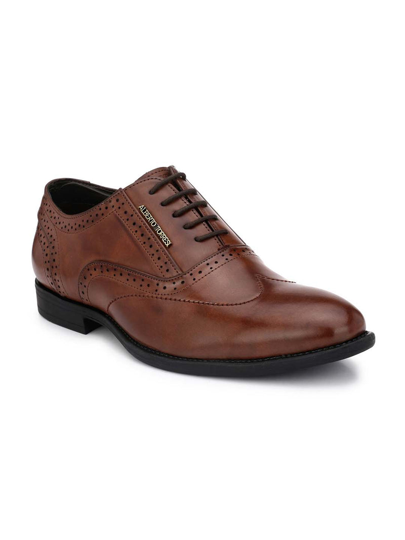 Alberto Torresi Koustom Brown Formal Shoes