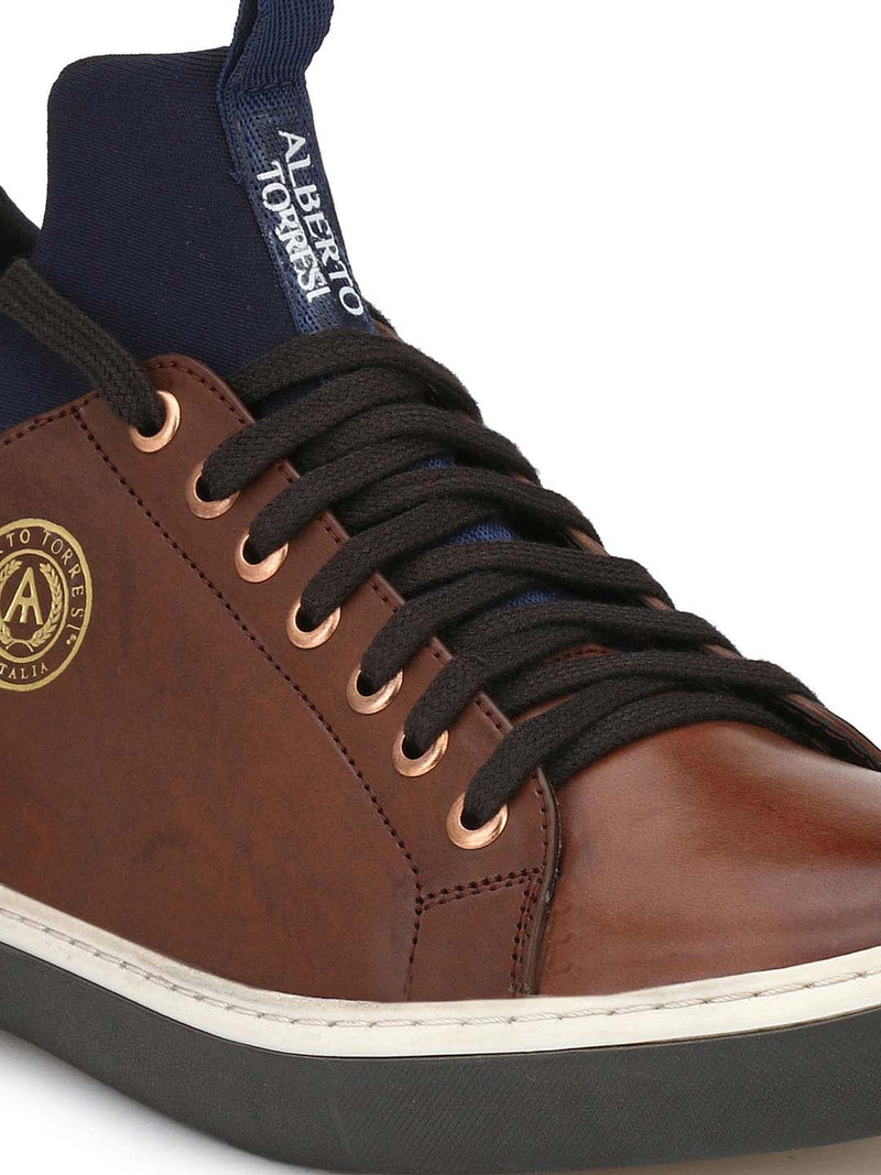 Alberto Torresi Men Tan Sneakers