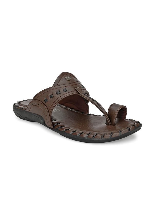 Alberto Torresi Men's Dark Brown Hawaii Thong Slipper