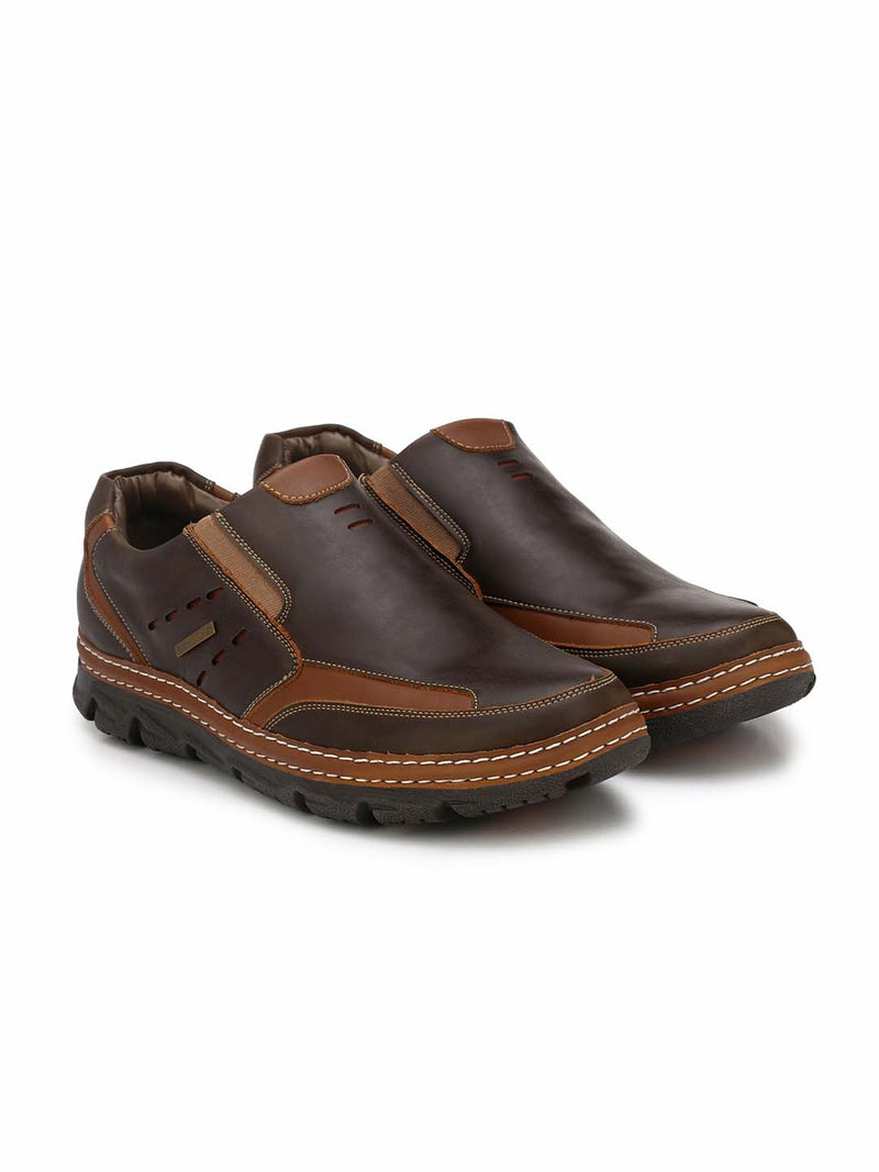 Alberto Torresi Domnoc Dark Brown+Tan Casual Shoes