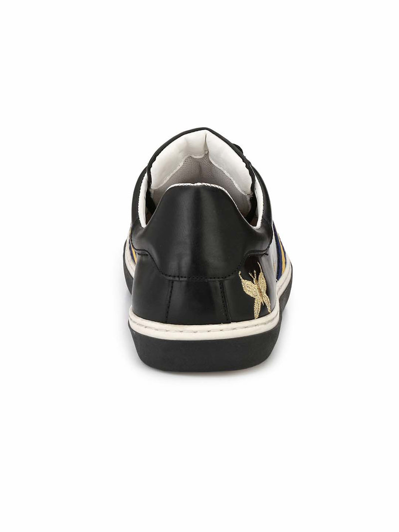 Alberto Torresi Hyerani Black Casual Shoes