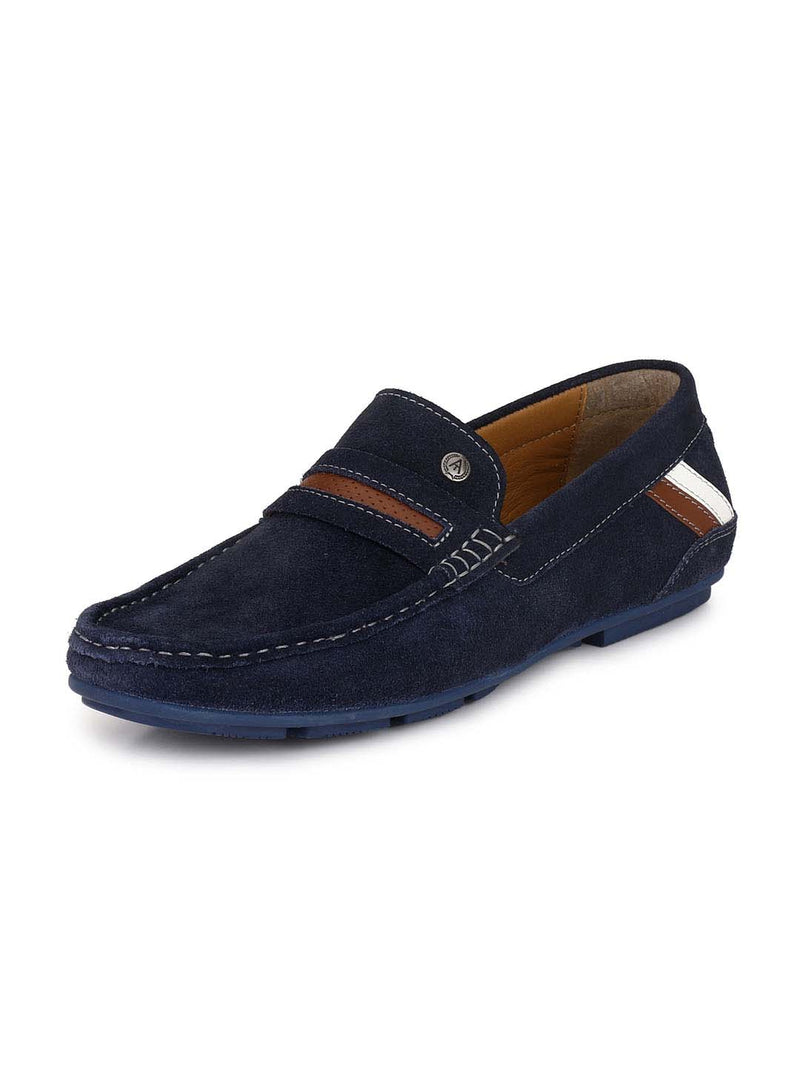 Alberto Torresi Men Ethan DRESS BLUE Suede Loafers