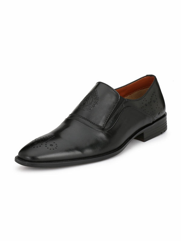 Alberto Torresi Men Jacoba Black Formal Shoes