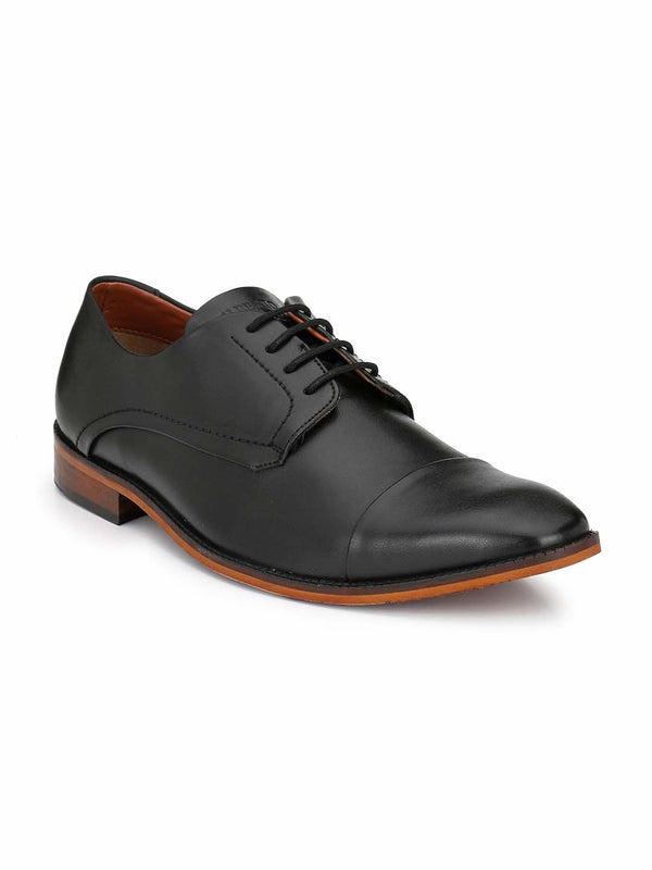 Alberto Torresi Men Jacobus Black Formal Shoes