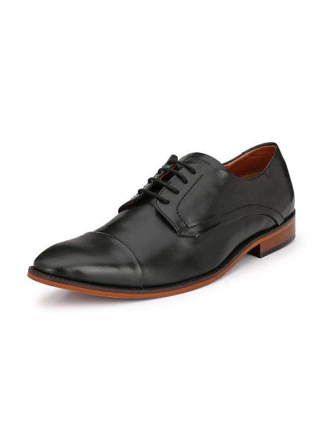 Alberto Torresi Men Jacobus Black Formal Shoe