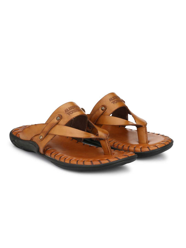 Alberto Torresi Men Jacomina Tan Slippers