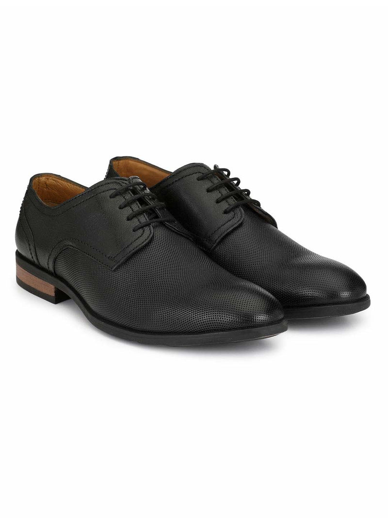 Alberto Torresi Men Chris Lace-Up Black Derby Shoes