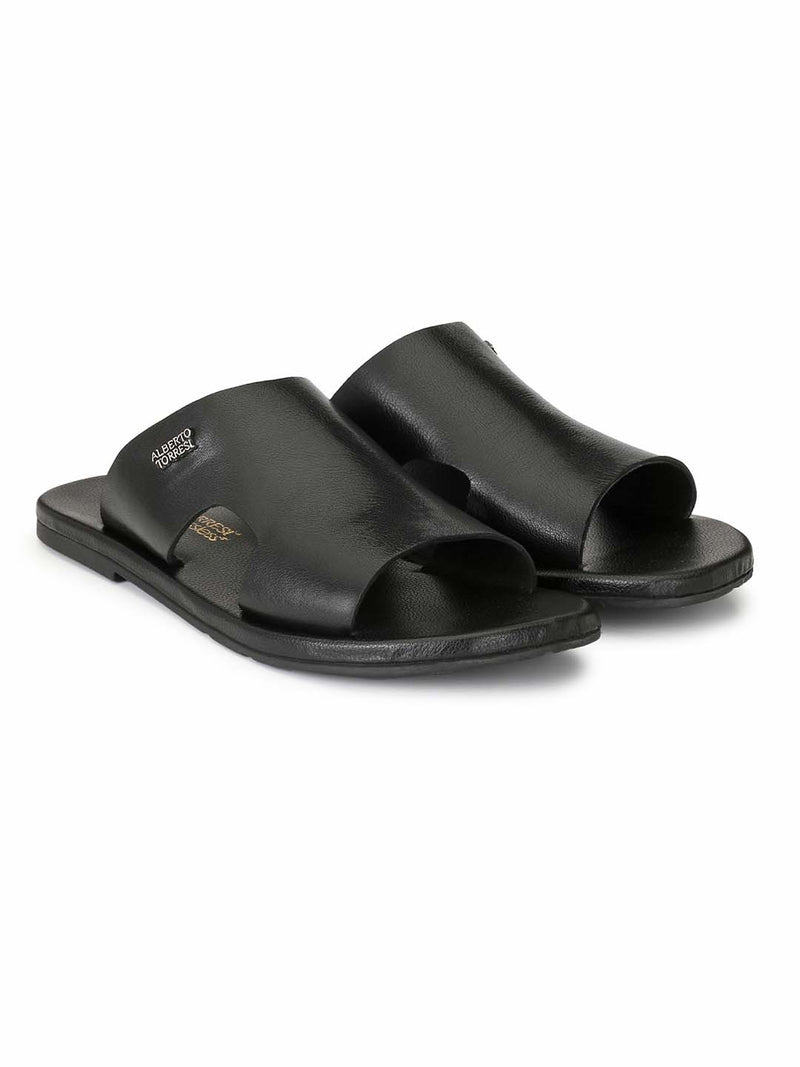 Alberto Torresi Men Massimo Black Slippers